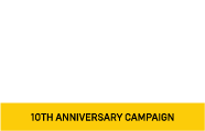 The Lancaster Science Factory Logo - 10th Anniversary Campaign
